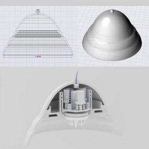 ニップルカップ 人間工学に基づいてつくられた美しい流曲線を奏でるカップ